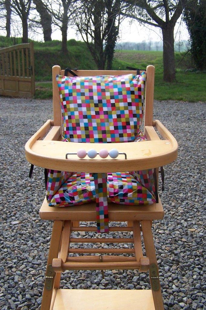 Coussin de chaise haute b b chaise pinterest - Coussin pour chaise bebe ...