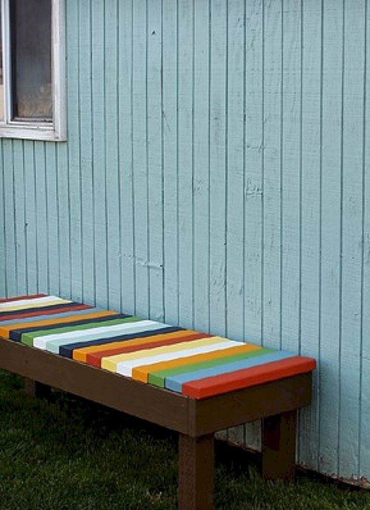 Genius and Low Budget Pallet Garden Bench for Your Beautiful Outdoor Space No 34 – DECOREDO