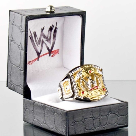 WWE Championship ring and I want the Divas Championship ring as well!