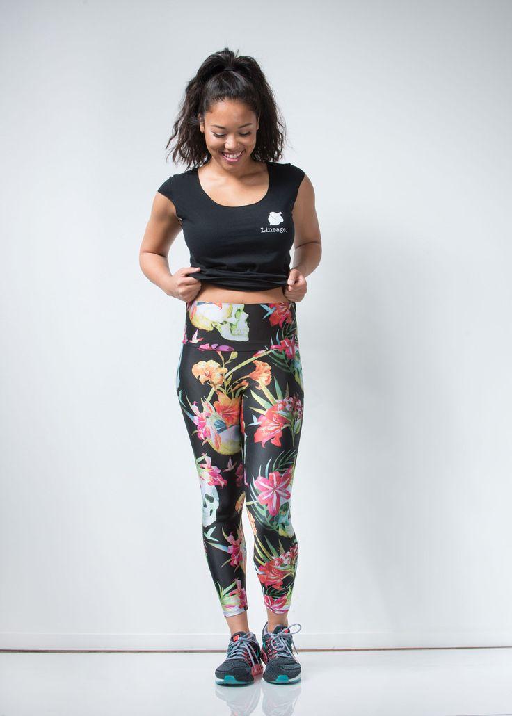 Floral Skull Leggings - lineagewear - 7