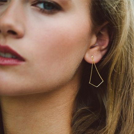 Image of Unity Triangle earrings