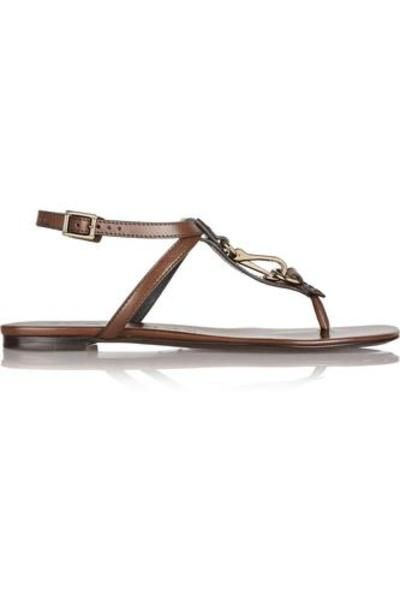 Embellished leather sandals #sandals #covetme #burberryshoes&accessories