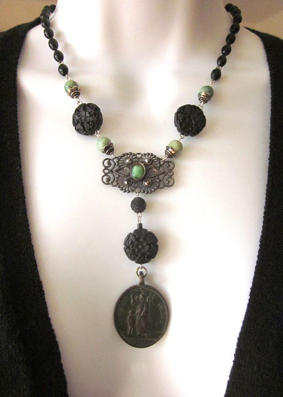 Vintage Assemblage Necklace Religious Necklace by JeepersKeepers