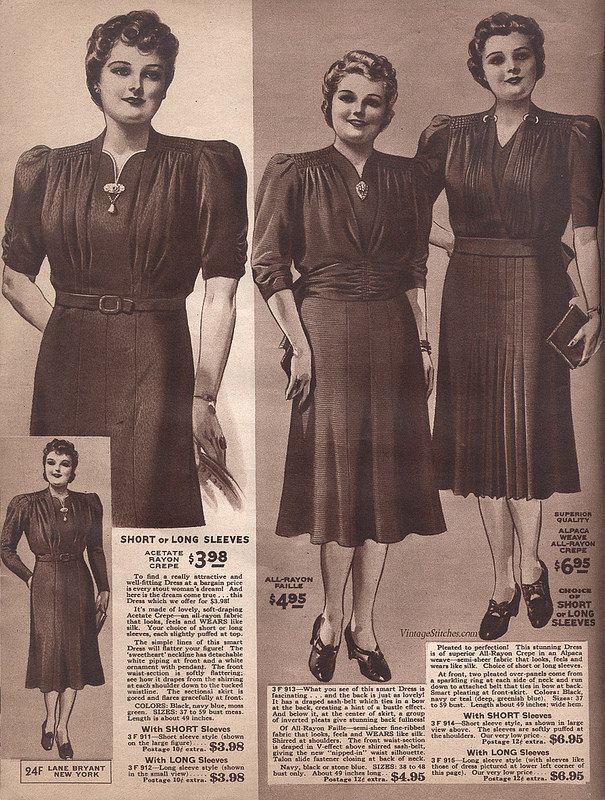 Spring and Summer 1940 Lane Bryant | VintageStitches.com