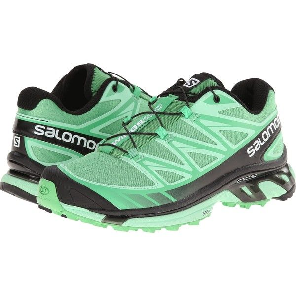 Salomon Wings Pro Women's Shoes, Green ($113) ❤ liked on Polyvore featuring shoes, athletic shoes, green, lace shoes, salomon footwear, winged shoes, salomon and lacy shoes