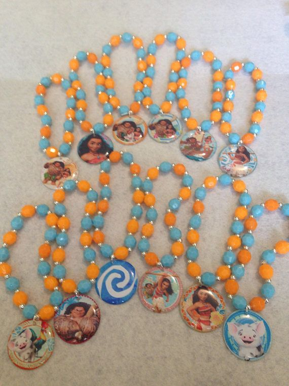This Is For A Set Of 12x Moana Themed Party Favor Bracelets Each Bracelet Comes With Diffe Charm As Pictured These Are
