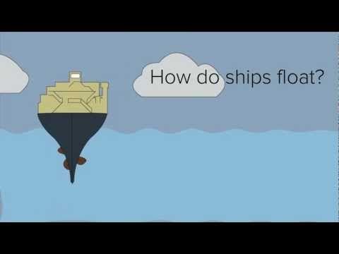 How do massive ships float yet small pebbles sink? Buoyancy!