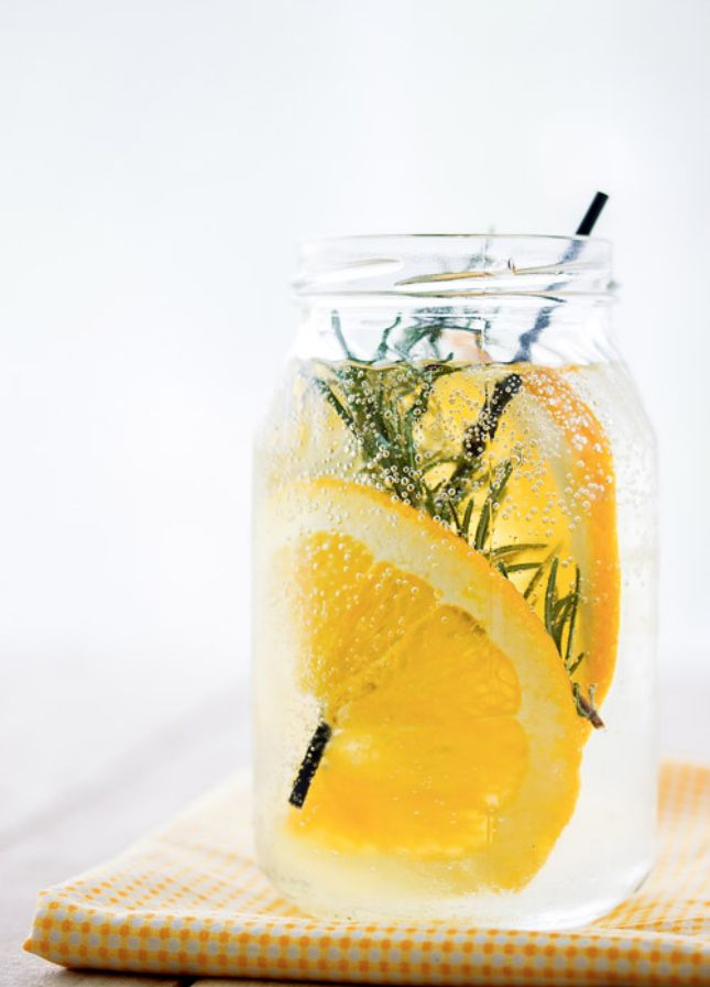 Boost your immune system with this Orange Rosemary Water.