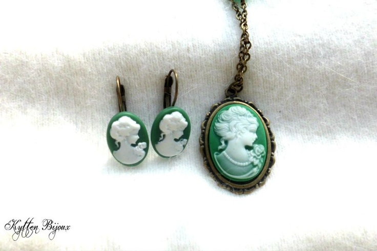 Green earings and necklace by http://www.breslo.hu/item/Zold-holgyecske_1700#