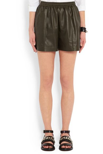 Givenchy - Shorts In Army-green Leather - Army green - FR42