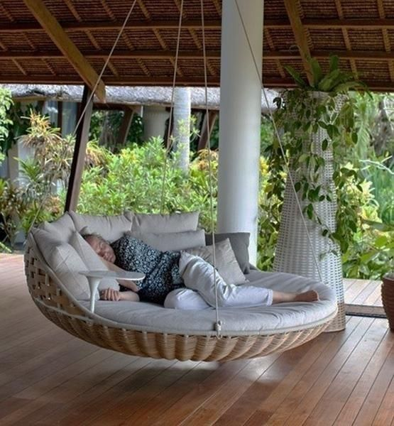 A hanging bed | 22 Weird And Wonderful Features You'll Wish You Had In Your Garden