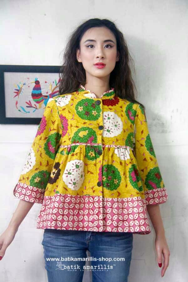 Batik Amarillis's Romancia Jacket Available at Batik Amarillis webstore http://batikamarillis-shop.com
