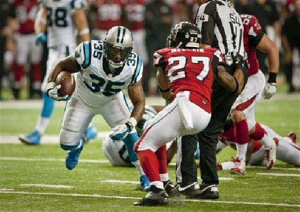 carolina panthers 2013 Champions of NFC South | Carolina Panthers full back Mike Tolbert drives toward the end zone ...