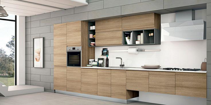 Jey: la cucina dalle linee pulite, per ambienti moderni che danno vita a soluzioni ricercate e preziose. #creokitchens #casa #living #home #arredamento #CREO