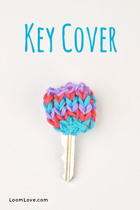 How to Make a Key Cover with Your Monster Tail - Rainbow Loom video tutorial