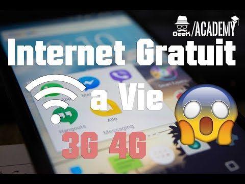 INTERNET 3G/4G GRATUIT ILLIMITÉ A VIE 2018 - YouTube