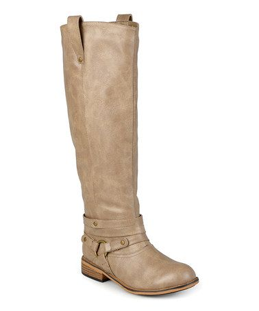 Another great find on #zulily! Taupe Bailey Wide-Calf Boot #zulilyfinds
