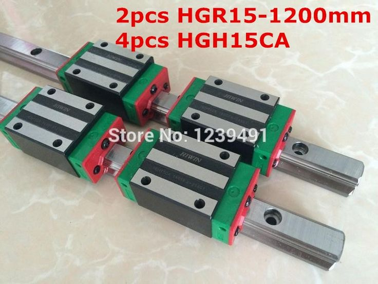 171.00$  Watch now - http://alixdj.worldwells.pw/go.php?t=32533575630 - 2pcs HIWIN linear guide HGR15 -  1200mm  with 4pcs linear carriage HGH15CA CNC parts 171.00$