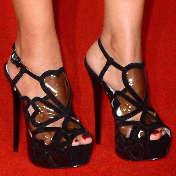 Preeya Kalidas wearing Kurt Geiger 'Kitty' sandals