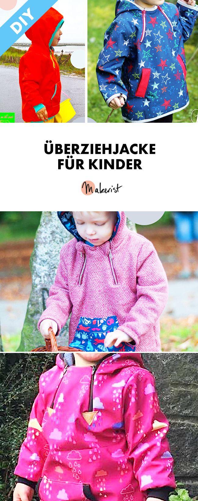 Schlupfjacke mit Kapuze für Kinder - Nähanleitung und Schnittmuster via Makerist.de