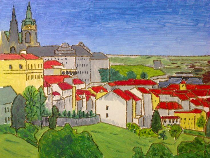 Pohled od Památníku národního písemnictví na Prahu