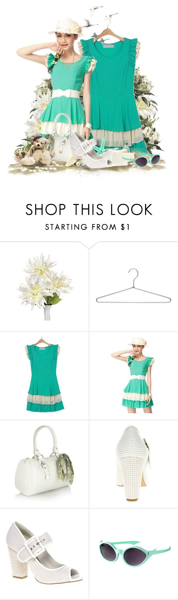 """""""Summer Breeze!"""" by keti-lady ❤ liked on Polyvore featuring Dahlia, Laundry, Red Herring, ASOS, heels, white, turquoise, assos, summer and dresses"""