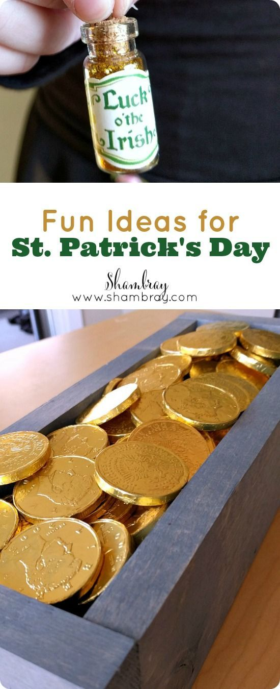 Fun Ideas for St. Patrick's Day with little effort.  St. Patrick's Day necklaces, decor, and gift ideas.