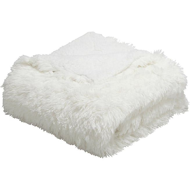 Elec Plaid imitation fourrure blanc 130x170cm - 19,90euros - ALINEA