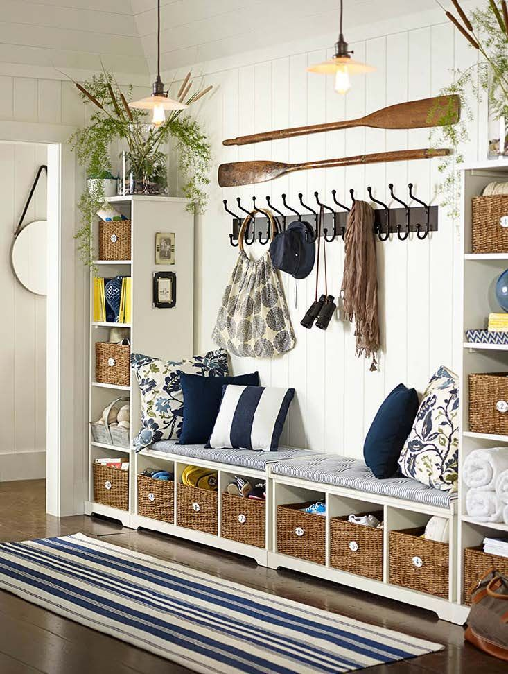 Best 25 coat storage ideas on pinterest hallway coat for Foyer storage ideas
