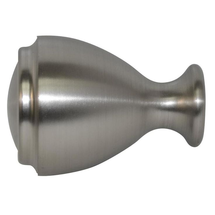 allen roth brushed nickel aluminum curtain rod finials