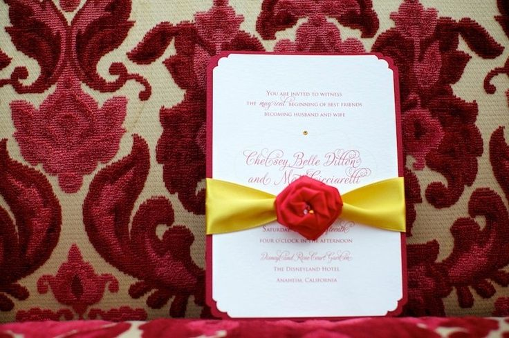 Beauty And The Beast Themed Wedding Invitations: For A Beauty And The Beast Themed Wedding