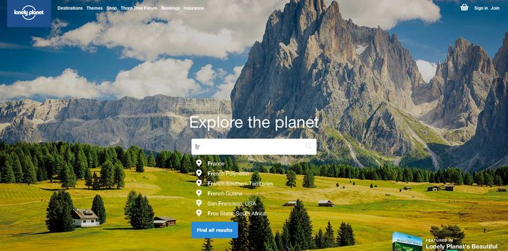 Lonely Planet - #search #element #ux #inspiration #autocompletion #ui