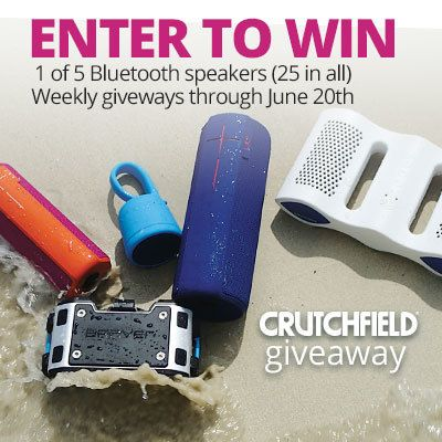 Enter to win 1 of 25 BT speakers Crutchfield is giving away through June 20th http://swee.ps/tUVTgnb