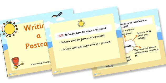 How To Write A Postcard Powerpoint Task Setter - Postcard, How To