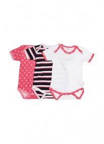 3-pack Babygro Multi-colour