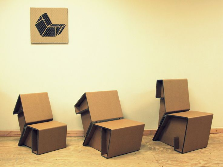 cardboard furniture design. chairigami cardboard furniture for the urban nomad design