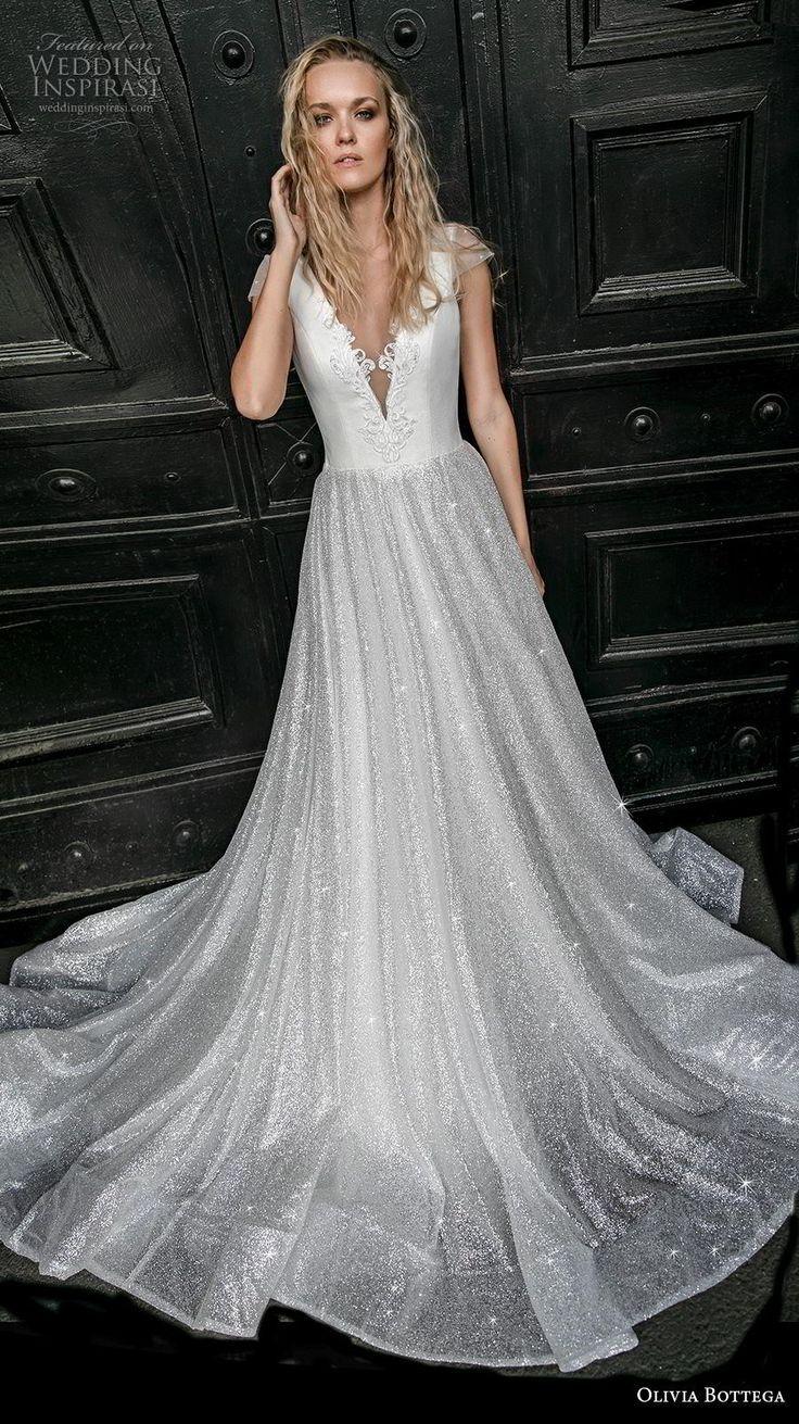 b6464439c4898 olivia bottega 2019 bridal cap sleeves deep v neck lightly embellished  bodice sh.