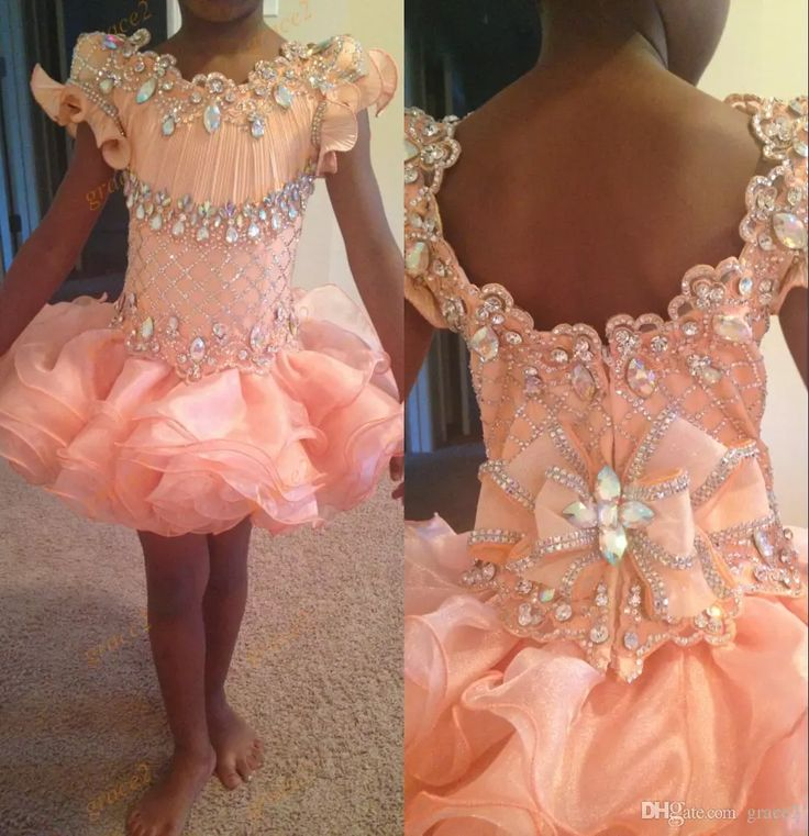 Ritzee Girls Pageant Dresses 2017 with Beaded Scoop Neck And Zipper Back Ruffles Organza Bling Bling Crystals Toddlers Pageant Dress Infant Pageant Dresses Little Girls Pageant Dresses Baby Pageant Dresses Online with $136.0/Piece on Grace2's Store | DHgate.com
