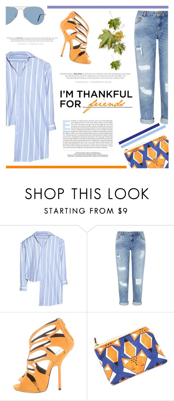 """""""I'm Thankful for... Friends! ☺"""" by antemore-765 ❤ liked on Polyvore featuring Vetements, Miss Selfridge, Giuseppe Zanotti, Ray-Ban and imthankfulfor"""