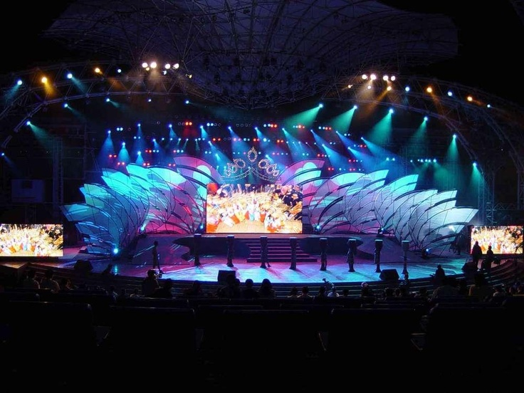 Lighting truss and movable stage for you stage · curtain lightsdisplay