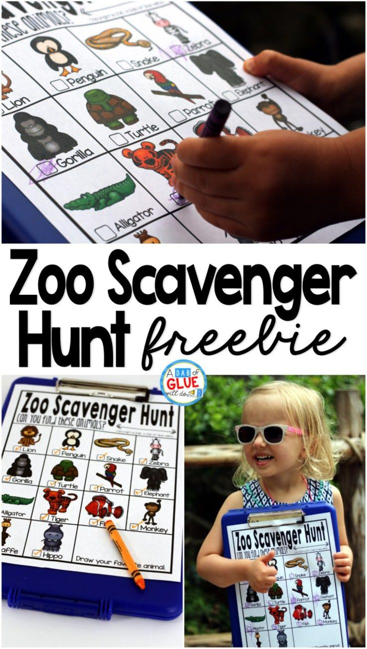 Zoo Scavenger Hunt FREEBIE is the perfect addition to your class' field trip or a trip to the zoo with your kids. This is a perfect way to add some sort of structure to the field trip and encourage some great discussions about the animals that they are se
