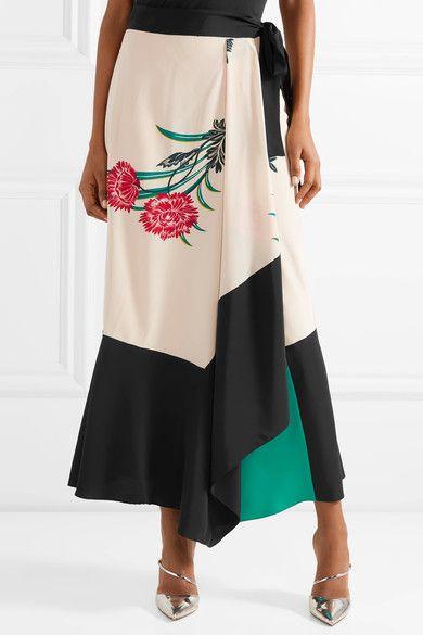 novel style amazing selection durable service Diane von Furstenberg - Printed silk wrap midi skirt   !LOVE ...