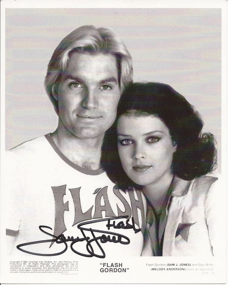Sam J Jones Signed 8x10 Photo - FLASH GORDON / PLAYBOY STAR - RARE!!! #2