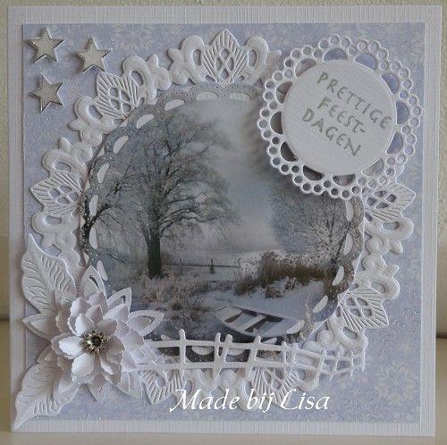 Voorbeeldkaart - Kerst kaart - Categorie: Scrapkaarten - Hobbyjournaal uw hobby website