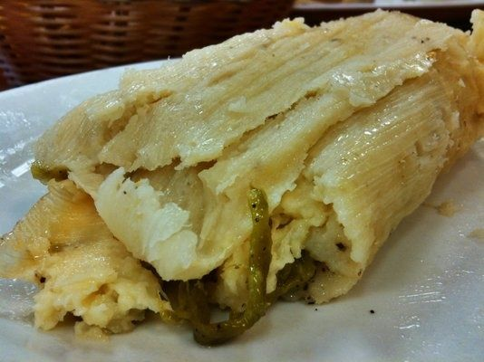 Tamales: These are the best tamales ever!!! It's made with queso fresco (fresh Mexican cheese) and Poblano peppers.... but if you like it more spicy use jalapeños. (Can't wait 'til Christmas!!)