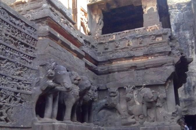 Aurangabad Private Tour: Ajanta And Ellora Caves Sightseeing Day Tour This private tour in Aurangabad will take you to visit Ajanta's wondrous  cave temples are cut the rocky sides into of a dramatic crescent-shaped  gorge. The caves are etched and painted with vegetable and mineral dyes. Followed by Ellora Cave, you will see the famous rock caves temples of Ellora that were constructed between the 5th and 8th centuries A.D to depict the Hindu, Buddhist and Jain faiths. Als...