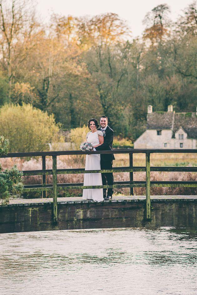 The Swan at Bibury Wedding Photography Bridge