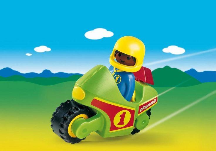 Pilote et moto de course Playmobil 1.2.3 - 6719 -9,99€ la grande recre