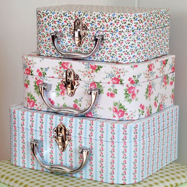 Cottage Pretties♥♥ For sale, no directions, but look like a version of hand covered hat boxes