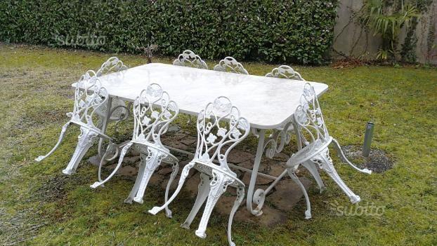 Tavoli In Marmo Da Giardino.Tavolo Da Giardino In Marmo Giardino E Fai Da Te In Vendita A